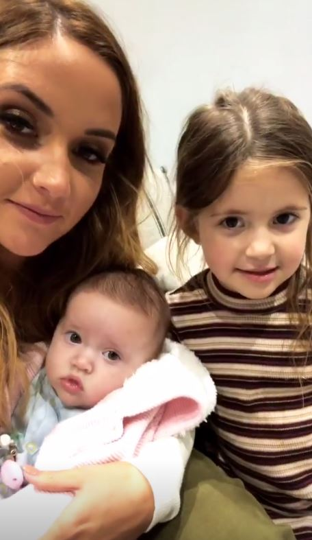 Jacqueline Jossa with daughters Mia and Ella