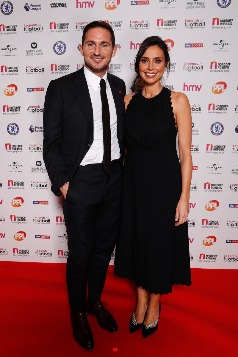 Legends of Football Award, Grosvenor House Hotel, London, UK - 08 Oct 2018 Frank Lampard with Christine Lampard