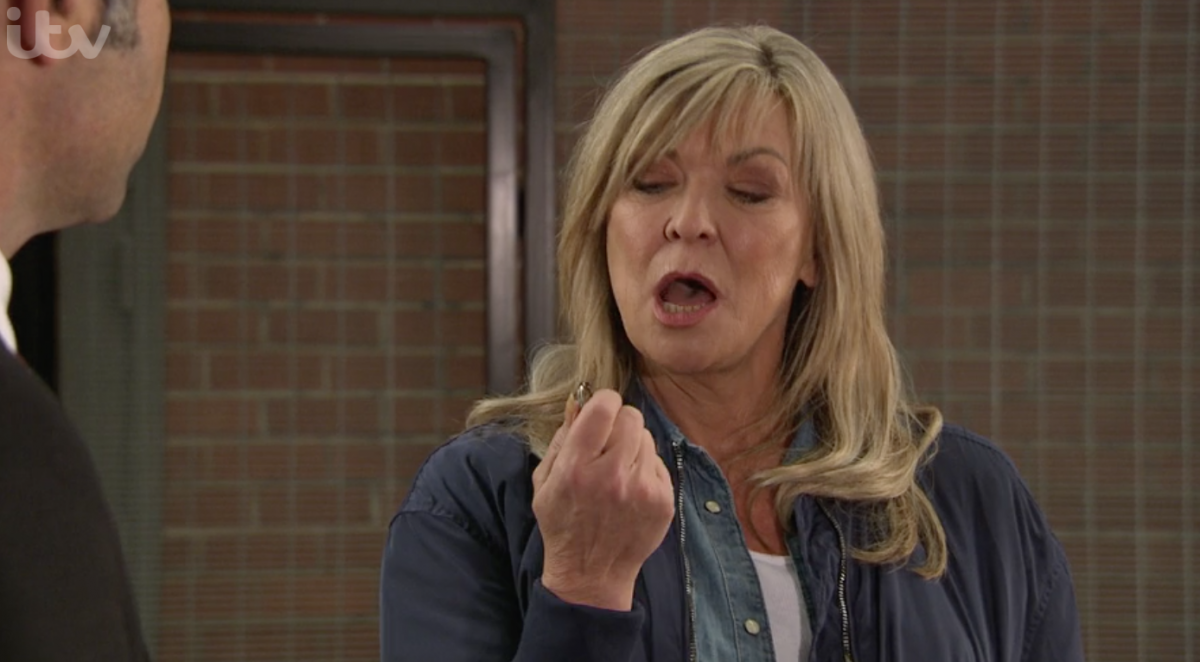 "Claire King teases ""explosive"" confrontation for Kim and Joe Tate"