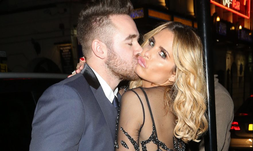 Katie Price and Kieran Hayler party at The Ivy Club in London