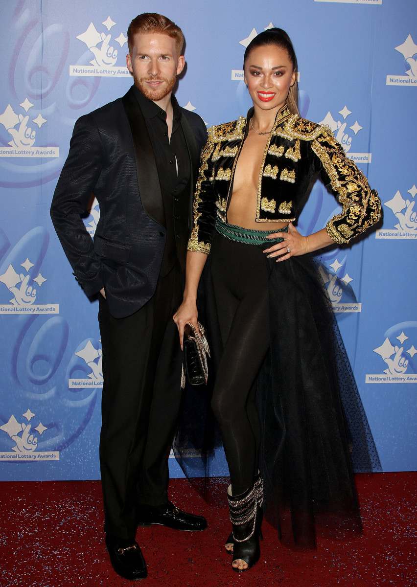 Neil and Katya Jones, The National Lottery Awards 2016 at The London Studios in London.
