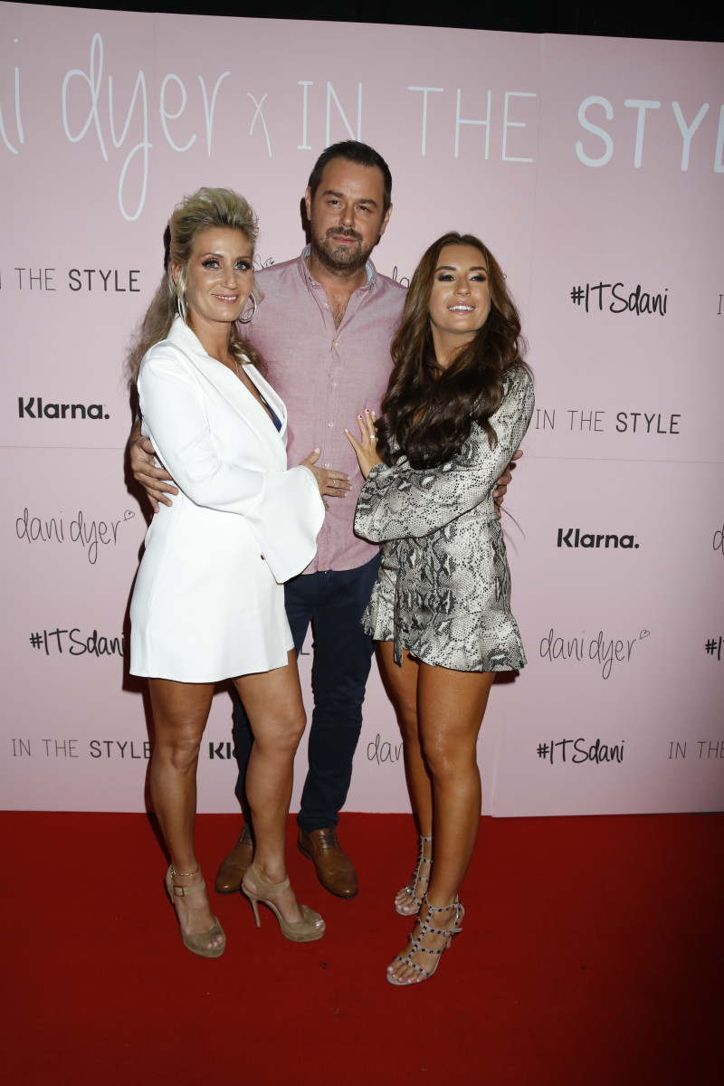 Danny Dyer, his wife Jo, Jack Fincham and Dani Dyer on the red carpet at In The Style Libertine in London, UK.