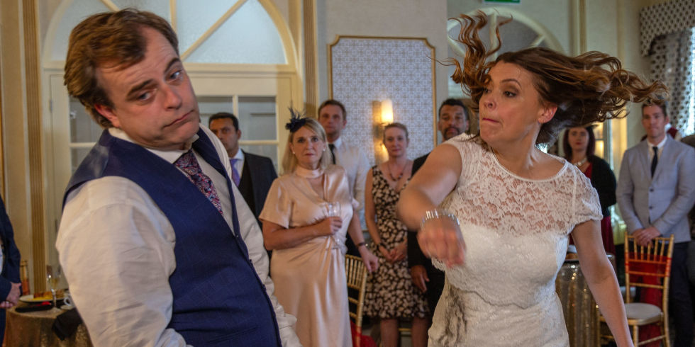 Steve punched by Tracy Corrie wedding