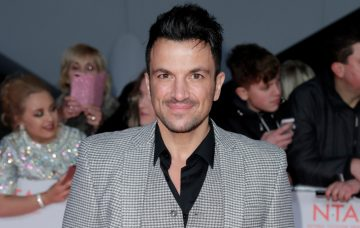 Peter Andre attends the National Television Awards 2018
