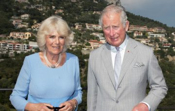 Prince Chales, Prince of Wales and Camilla, Duchess of Cornwall visit Eze Village.
