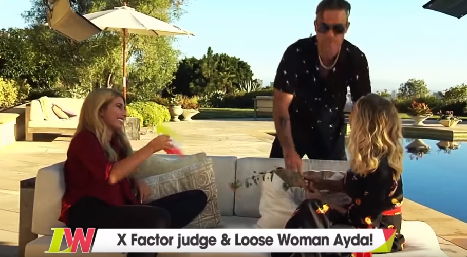 Stacey Solomon, Ayda Field and Robbie Williams on LW