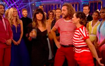 Strictly fans spot Katya's husband Neil glaring as she hugs Seann Walsh after kissing scandal