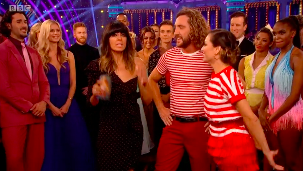 Strictly fans spot Katya's husband Neil glaring as she hugs Seann Walsh after kissing scandal