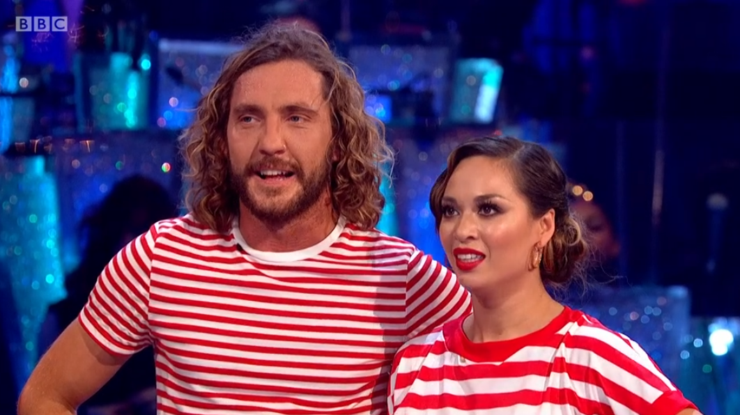 Seann Walsh and Katya Jones on strictly