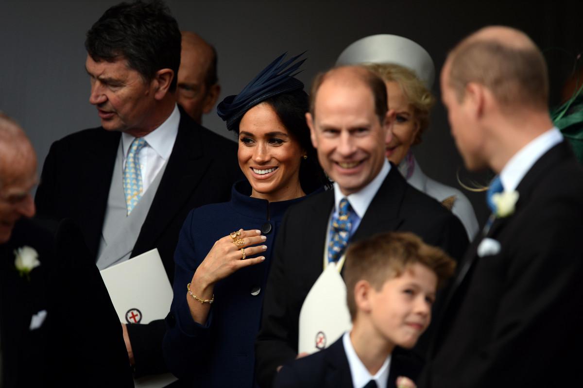 Meghan Markle at Princess Eugenie's wedding