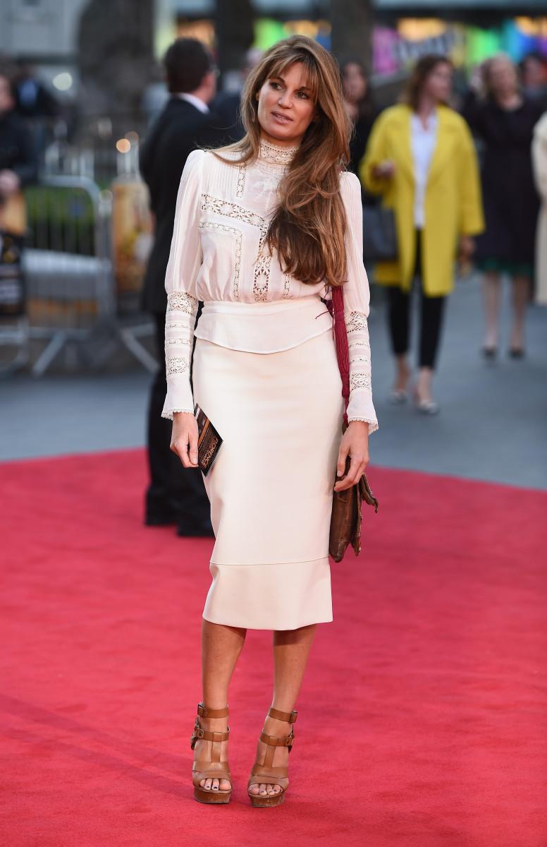 Jemima Khan arrives for the UK film premiere of 'Florence Foster Jenkins'