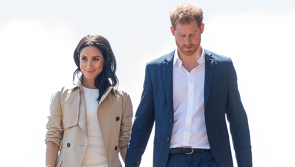 Duchess of Sussex reveals first hint of baby bump in Australia