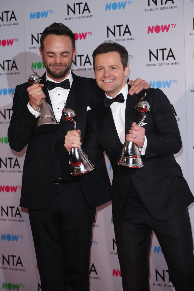 Ant and Dec at The National TV Awards 2018