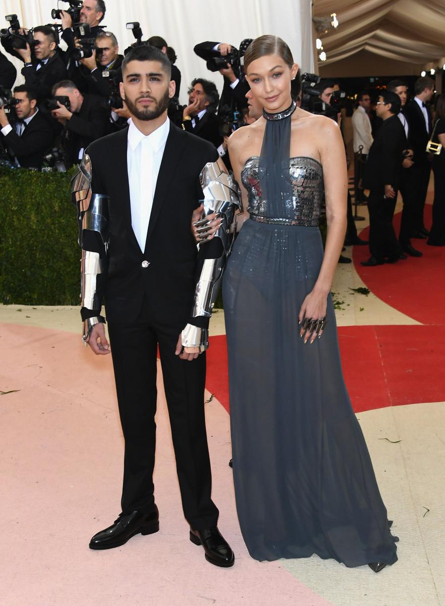 Gigi Hadid (L) and Zayn Malik attend the 'Manus x Machina: Fashion In An Age Of Technology' Costume Institute Gala at Metropolitan Museum of Art