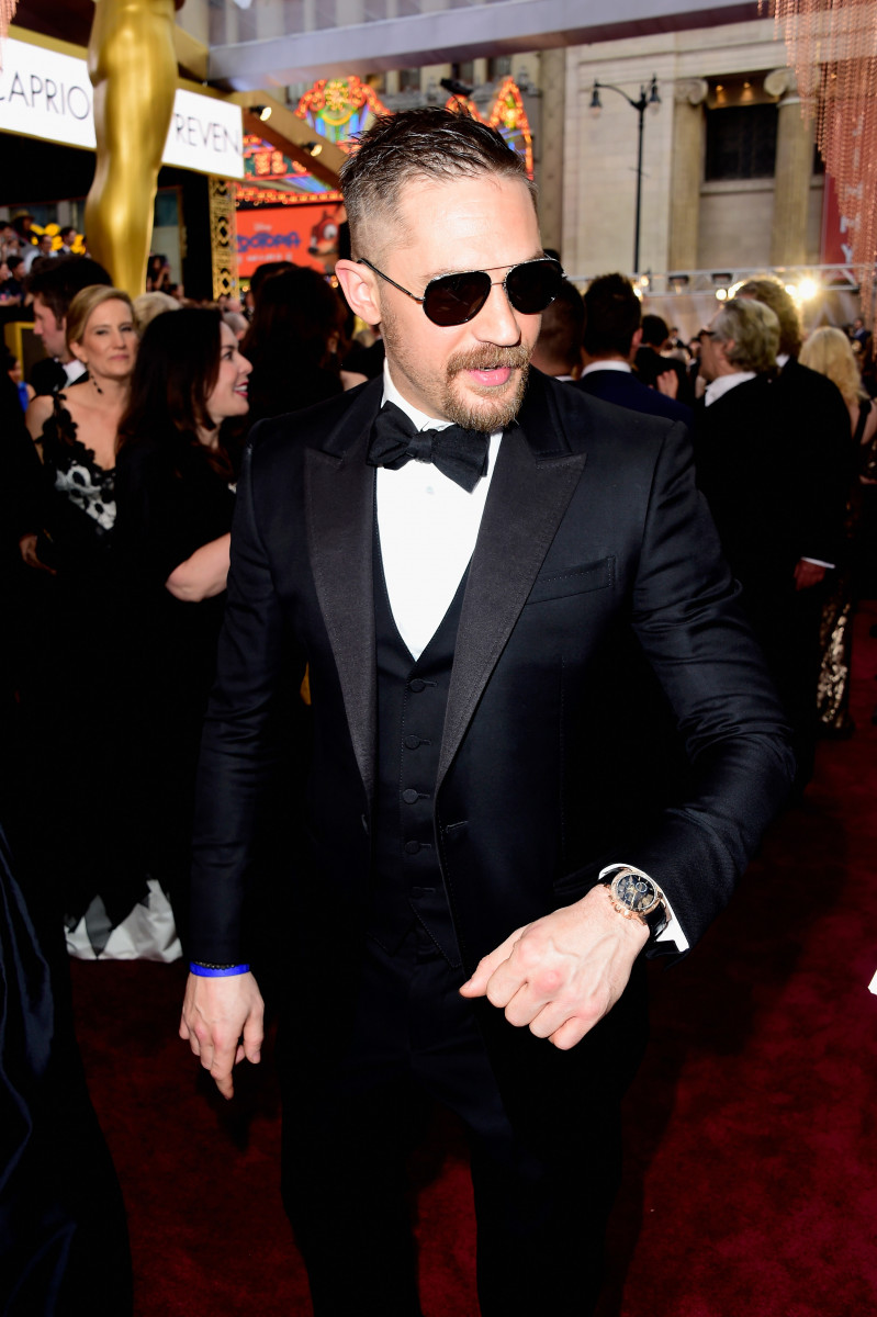 Actor Tom Hardy attends the 88th Annual Academy Awards at Hollywood & Highland Center