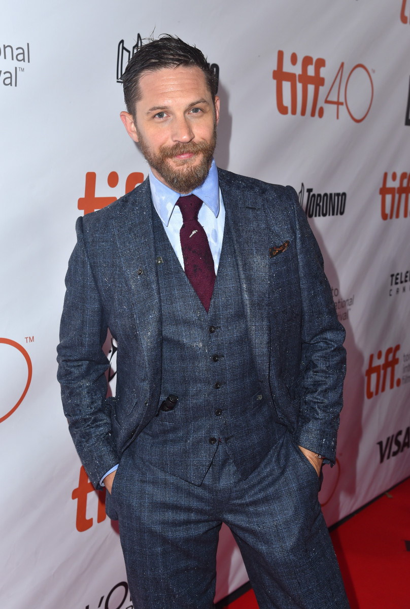 Tom Hardy attends the 'Legend' premiere during the 2015 Toronto International Film Festival at Roy Thomson Hall