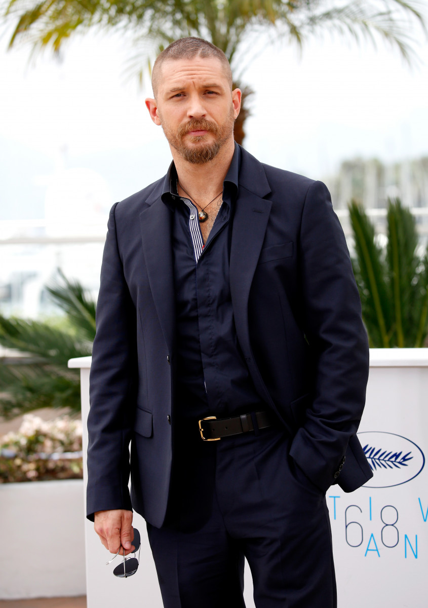 Tom Hardy attends a photocall for 'Mad Max: Fury Road' during the 68th annual Cannes Film Festival