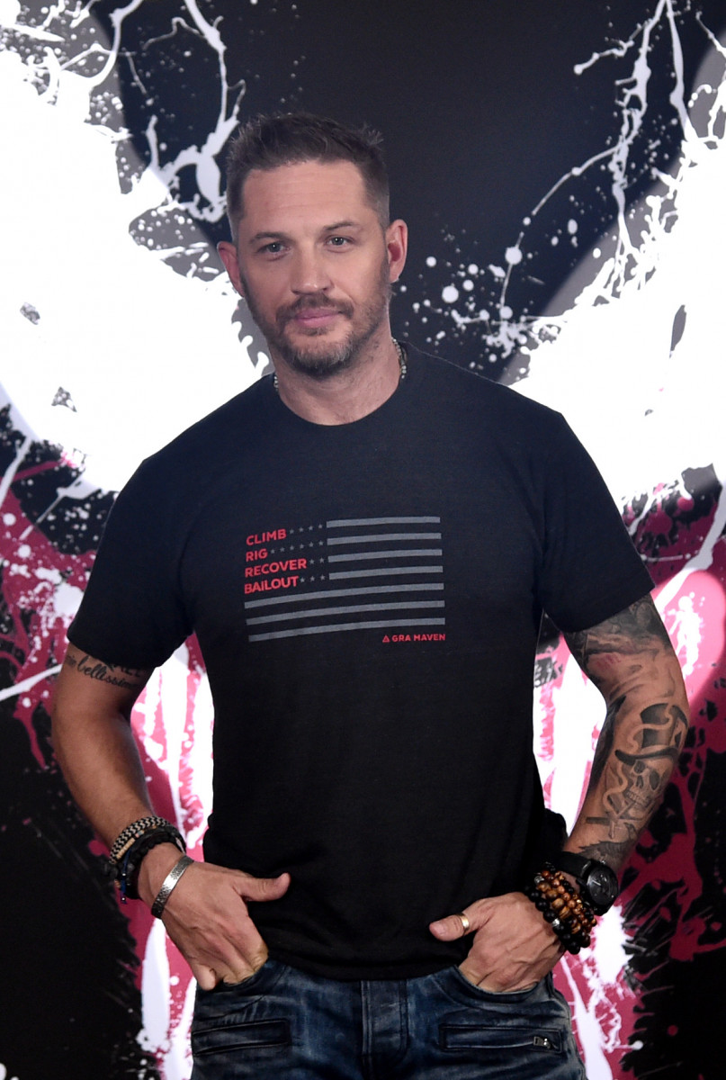 Tom Hardy attends a photo call for Columbia Pictures' 'Venom' at the Four Seasons Hotel Los Angeles at Beverly Hills