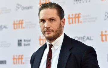 Tom Hardy attends 'The Drop' premiere during the 2014 Toronto International Film Festival