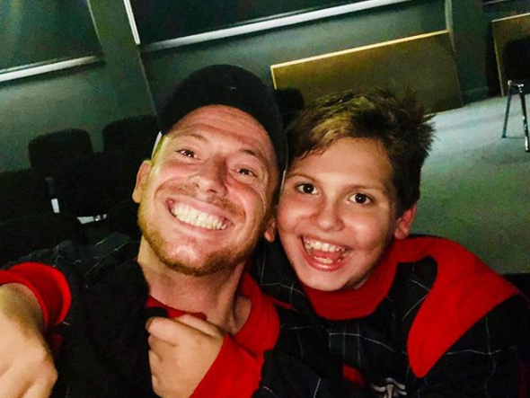 Joe Swash and his son Harry