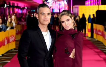 Ayda Field and Robbie Williams / PA