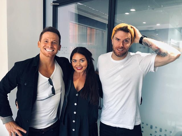 Joe Swash, Scarlett Moffatt and Joel Dommett