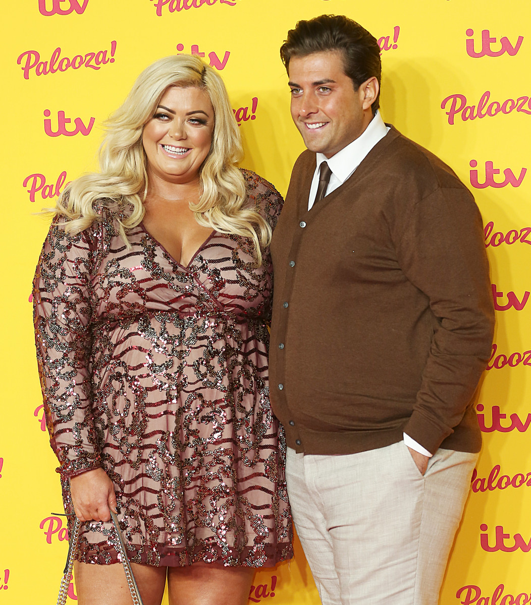 Gemma Collins and Arg, The ITV Palooza, Royal Festival Hall, London UK, 16 October 2018, Photo by Brett D. Cove