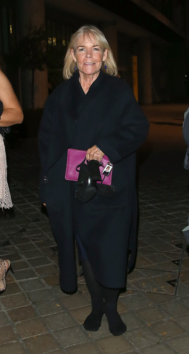 Linda Robson leaving the Royal Festival Hall on the Southbank in London after attending The ITV Palooza Party, London.