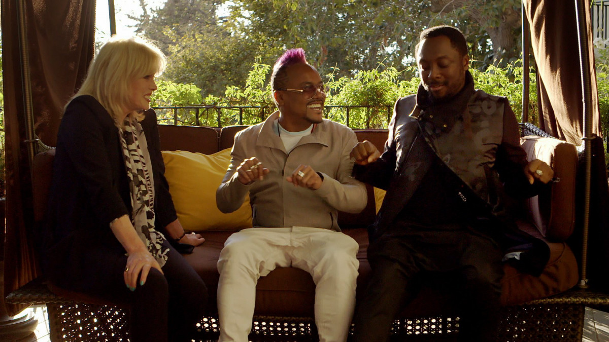 Joanna Lumley, will.i.am and apl. de. ap.