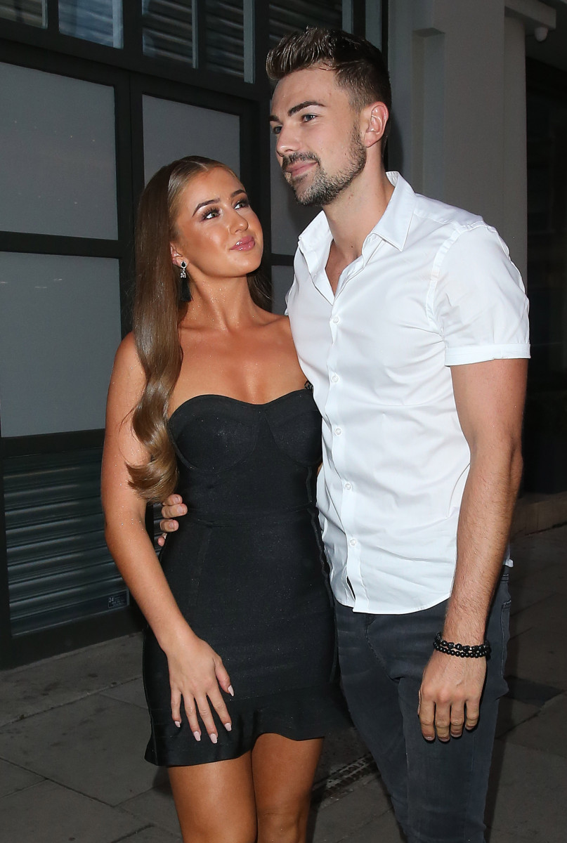 Sam Bird and Georgia Steel, Celebrities Leave The Love Island Party At Tropicana Club In London
