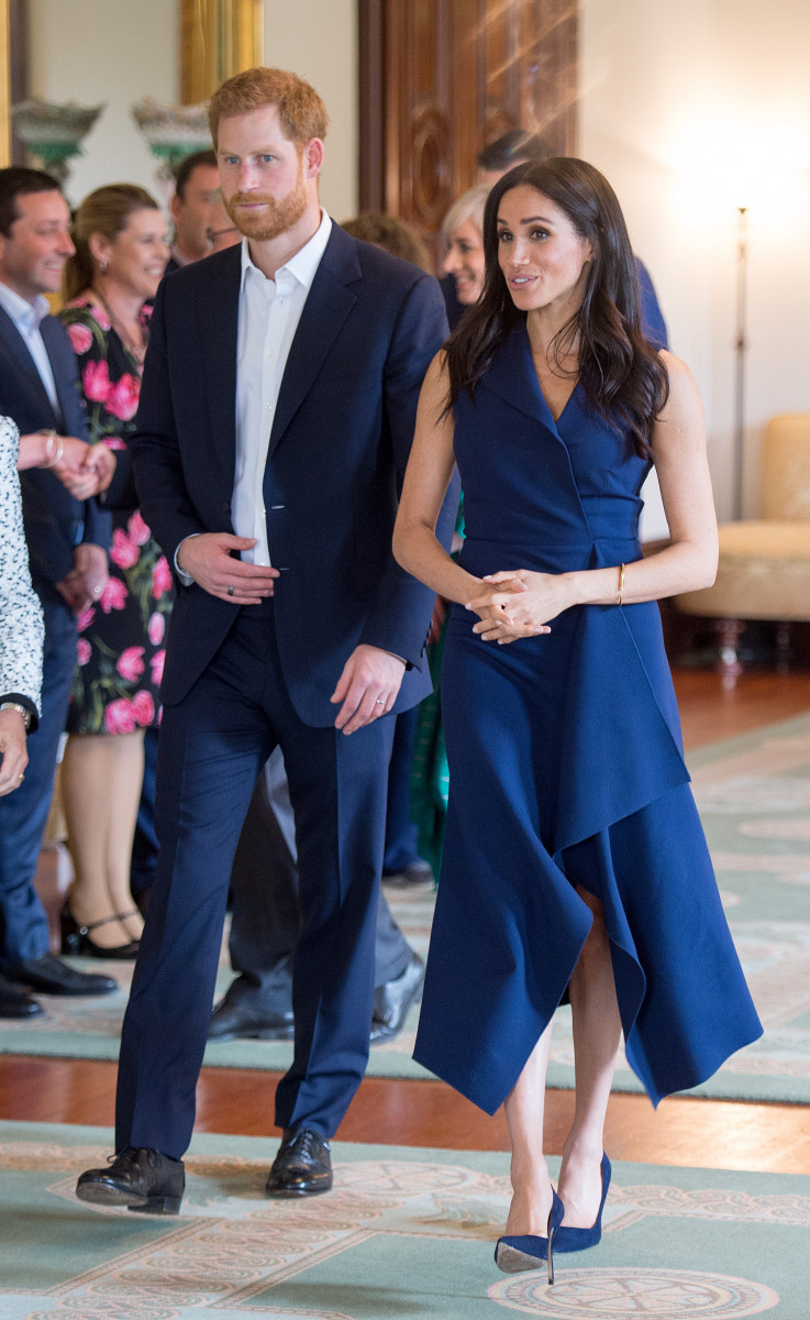 Prince Harry, the Duke of Sussex and Meghan, the Duchess of Sussex attend a Reception hosted by the Honourable Linda Dessau AC, Governor of Victoria and Mr. Anthony Howard QC at Government House Victoria in Melbourne