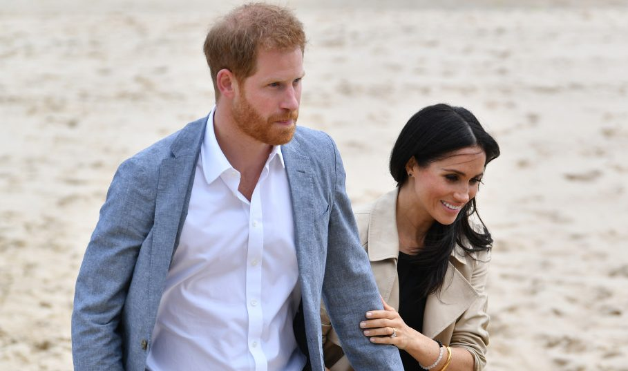 Prince Harry and Meghan Markle on their Royal visit to South Melbourne Beach