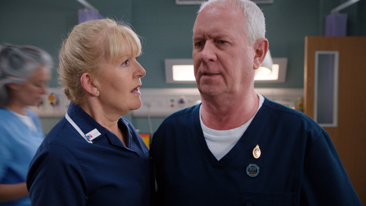 "Casualty's Cathy Shipton on ""grim"" Duffy cheating storyline"