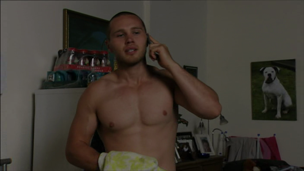 Keanu Taylor Topless on the phone