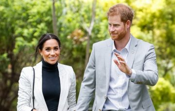 Prince Harry, the Duke of Sussex and Meghan, the Duchess of Sussex arrive for a lunchtime Reception hosted by the Prime Minister with Invictus Games competitors, their family and friends