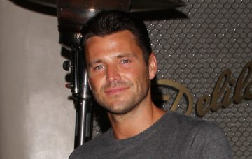 Mark Wright strikes a pose as he is seen leaving the Delilah club by himself in West Hollywood
