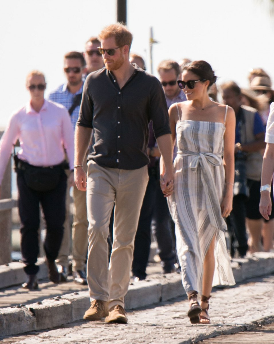 The Duke and Duchess of Sussex, Prince Harry and Meghan Markle, meet the locals on Fraser Island