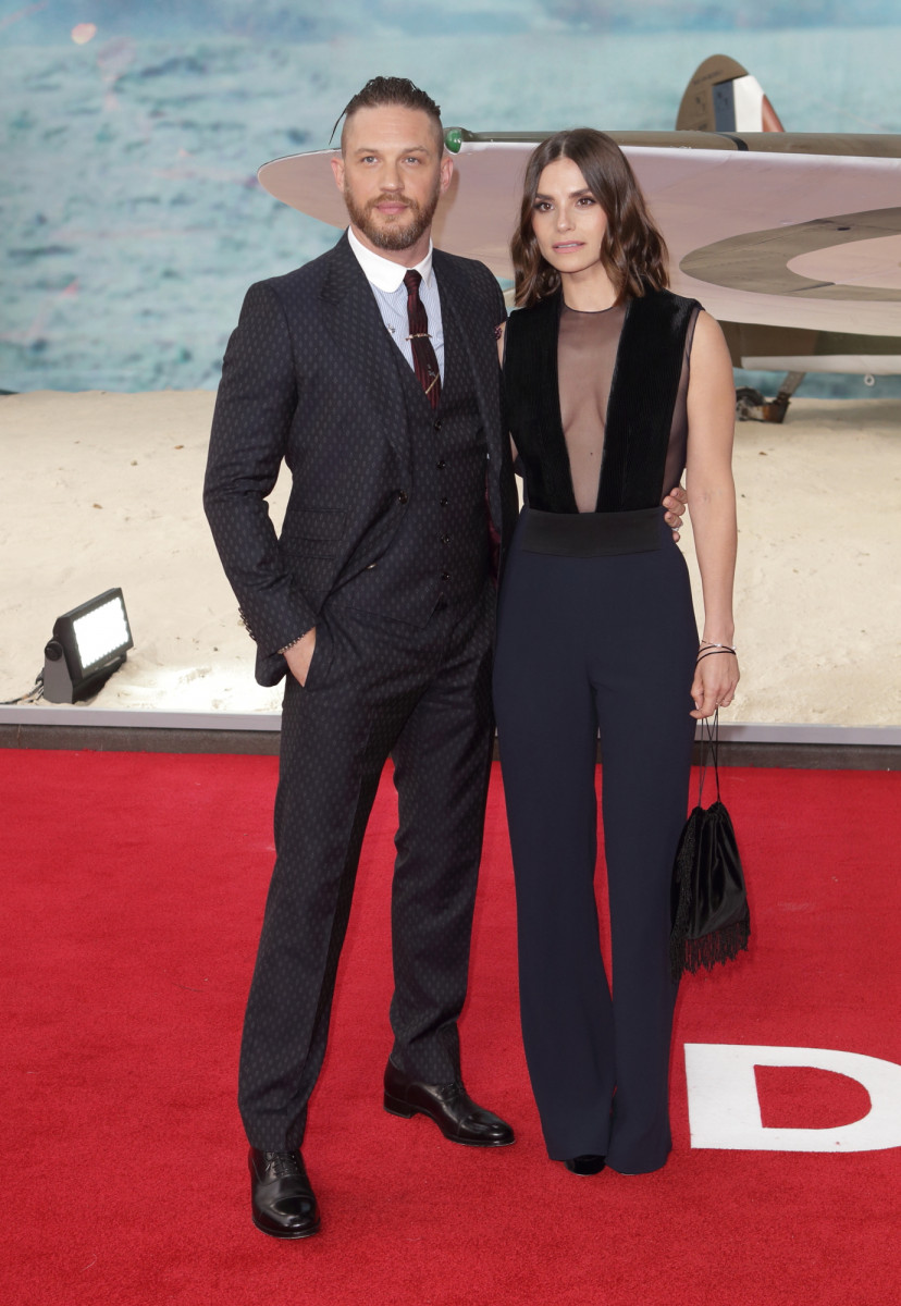 Charlotte Riley and Tom Hardy, Dunkirk World Premiere Red Carpet Arrivals Odeon Leicester Square London