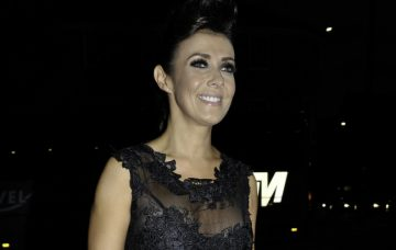 Kym Marsh Attends The Emerald Charity Ball At Hilton Hotel In Manchester