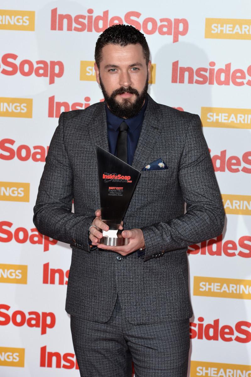 Shayne Ward attends the Inside Soap Awards held at 100 Wardour Street on October 22, 2018