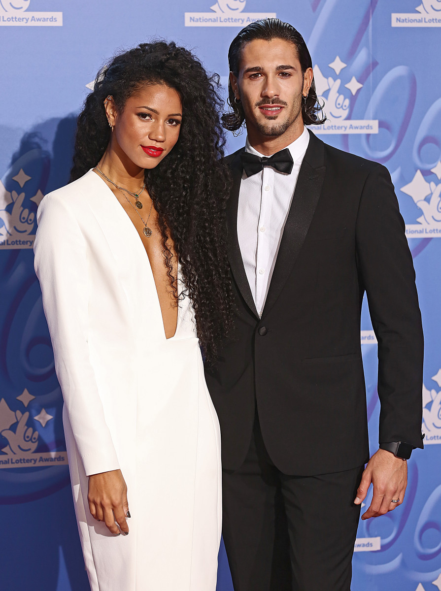 Vick Hope and Graziano DiPrima, The National Lottery Awards 2018, Television Centre, London UK, 21 September 2018, Photo by Brett D. Cove
