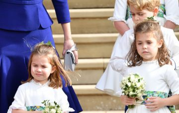 Princess Charlotte, Teddy Williams and Prince George, Bridal Party Depart From St George's Chapel