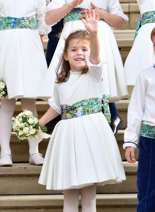 Teddy Williams at Princess Eugenie wedding