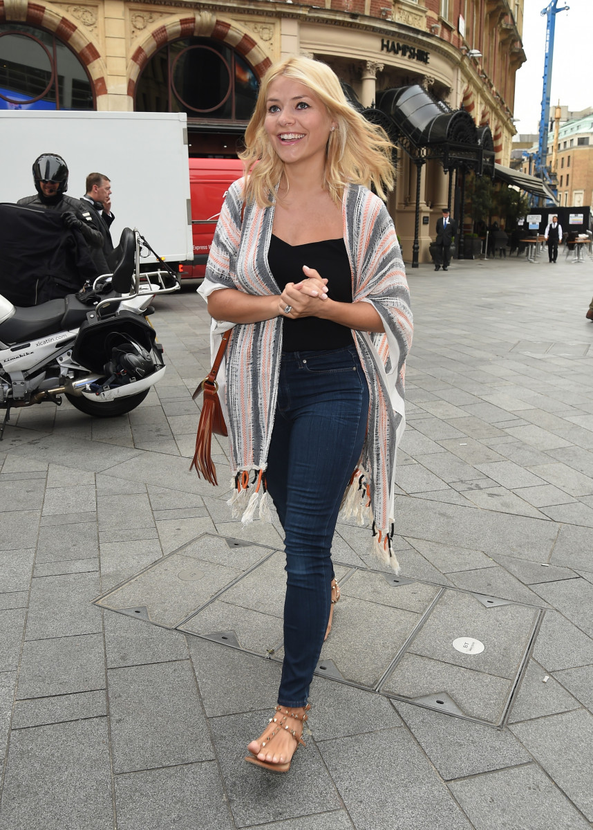 Holly Willoughby Seen Arriving Outside Capital FM In London