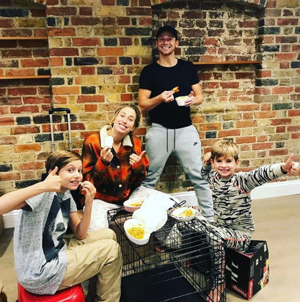 Stacey Solomon, Joe Swash and her two sons