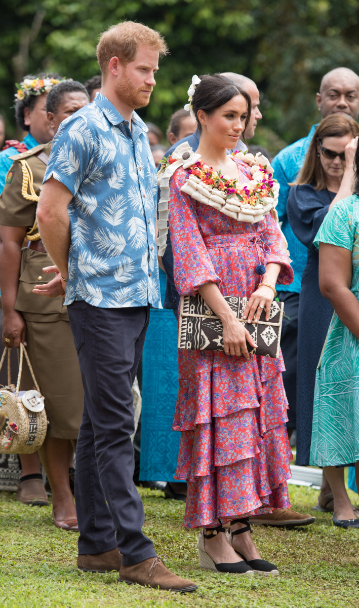 Prince Harry, the Duke of Sussex and Meghan, the Duchess of Sussex visit the University of the South Pacific campus in Suva