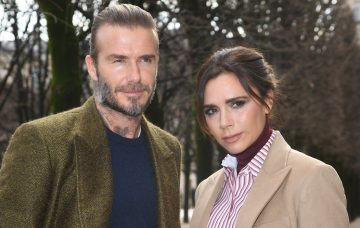 David Beckham and Victoria Beckham attend the Louis Vuitton Menswear Fall/Winter 2018-2019 show as part of Paris Fashion Week