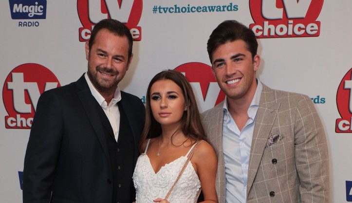 Danny Dyer, Jack Fincham and Dani Dyer, The TV Choice Awards, Dorchester Hotel, London, UK