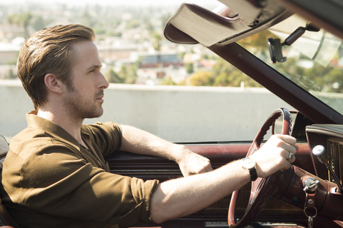 "Ryan Gosling and Emma Stone star in the musical drama ""La La Land"