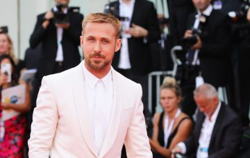 Ryan Gosling walks the red carpet ahead of the opening ceremony and the 'First Man' screening